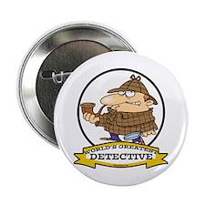 "WORLDS GREATEST DETECTIVE III CARTOON 2.25"" Button"