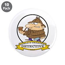 "WORLDS GREATEST DETECTIVE III CARTOON 3.5"" Button"
