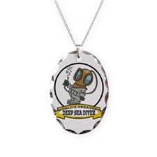 WORLDS GREATEST DEEP SEA DIVER Necklace Oval Charm