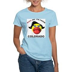 Kiss Me Colorado Women's Pink T-Shirt