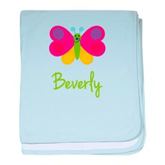 Beverly The Butterfly baby blanket