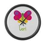 Lori The Butterfly Large Wall Clock