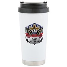 Official US Navy Veteran Travel Mug