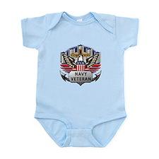Official US Navy Veteran Infant Bodysuit