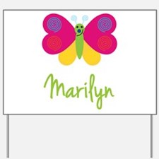 Marilyn The Butterfly Yard Sign