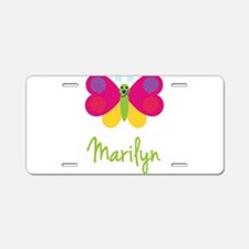 Marilyn The Butterfly Aluminum License Plate