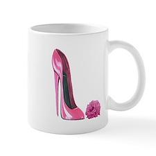 Pink stiletto shoe and pink r Mug
