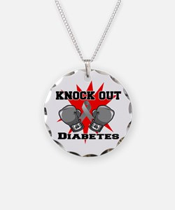 Knock Out Diabetes Necklace Circle Charm