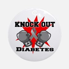 Knock Out Diabetes Ornament (Round)