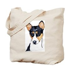 Basenji Dog Portrait Tote Bag