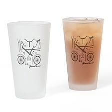 Bike Assembly Drinking Glass