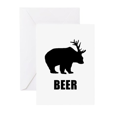 Beer Bear Greeting Cards (Pk of 20)