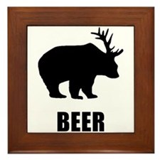 Beer Bear Framed Tile