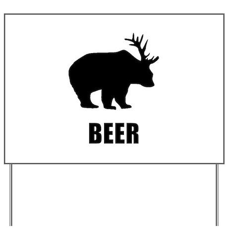 Beer Bear Yard Sign