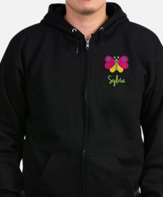 Sylvia The Butterfly Zip Hoodie