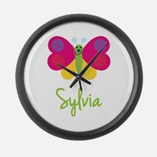 Sylvia The Butterfly Large Wall Clock
