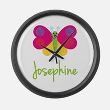 Josephine The Butterfly Large Wall Clock