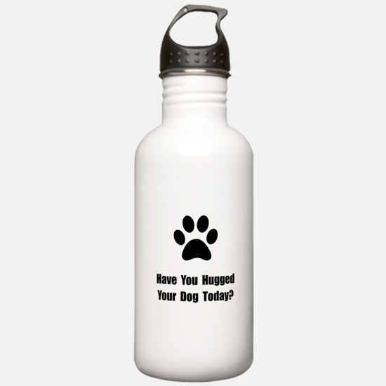 Hugged Dog Water Bottle