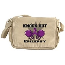 Knock Out Epilepsy Messenger Bag