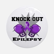 Knock Out Epilepsy Ornament (Round)