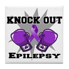Knock Out Epilepsy Tile Coaster