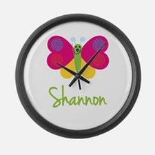 Shannon The Butterfly Large Wall Clock