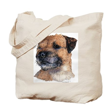 Border Terrier Dog Portrait Tote Bag