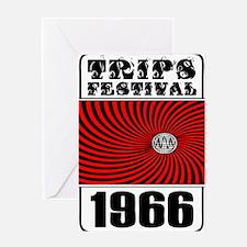 Trips Festival 1966 Retro Greeting Card