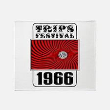 Trips Festival 1966 Retro Throw Blanket