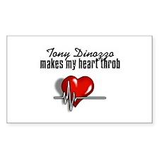 Tony Dinozzo makes my heart throb Decal