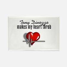 Tony Dinozzo makes my heart throb Rectangle Magnet