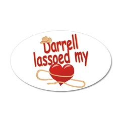 Darrell Lassoed My Heart 38.5 x 24.5 Oval Wall Pee