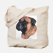 Bullmastiff Dog Portrait Tote Bag