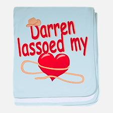 Darren Lassoed My Heart baby blanket