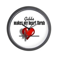 Gibbs makes my heart throb Wall Clock