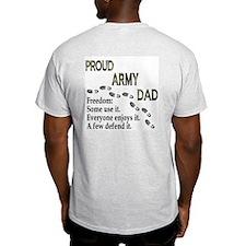 Proud Army Dad Fredom Ash Grey T-Shirt