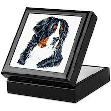 Bernese Mountain Dog Portrait Keepsake Box