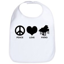 Peace Love Piano Bib