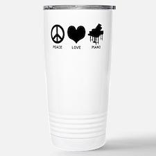 Peace Love Piano Travel Mug
