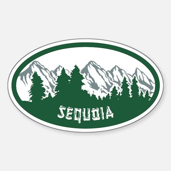 Sequoia Sticker Sticker (Oval)