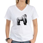 Gorilla Women's V-Neck T-Shirt