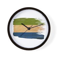 Sierra Leone Flag Wall Clock
