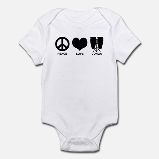 Peace Love Conga Infant Bodysuit