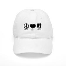 Peace Love Conga Baseball Cap