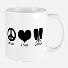 Peace Love Conga Mug