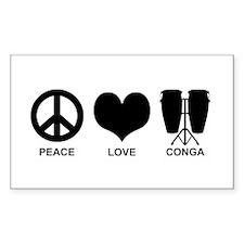 Peace Love Conga Decal