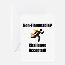 Non Flammable Greeting Card