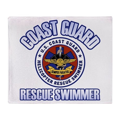 Rescue Swimmer Throw Blanket