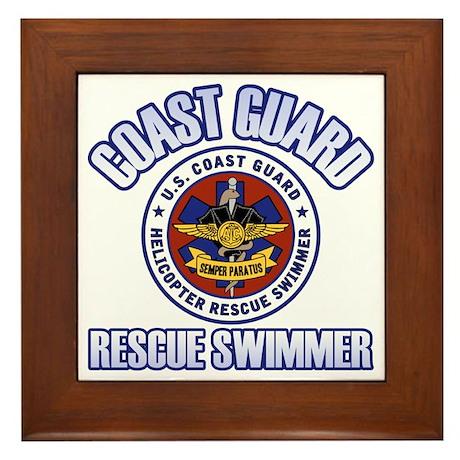 Rescue Swimmer Framed Tile