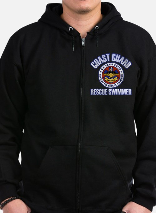 Rescue Swimmer Zip Hoodie (dark)